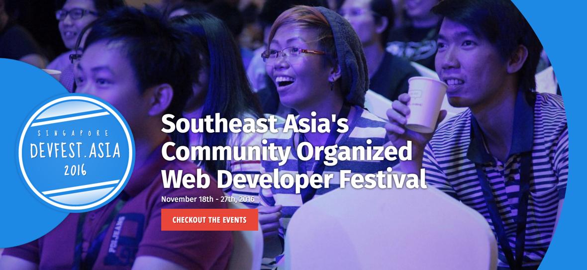 1주일간 개최된 devfest.asia 의 행사 중 하나였던 jsconf.asia
